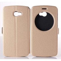 Gold S-view Flip Case For LG K5
