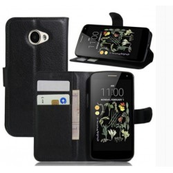 LG K5 Black Wallet Case
