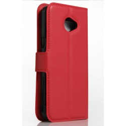 LG K5 Red Wallet Case