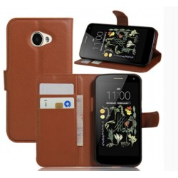 LG K5 Brown Wallet Case