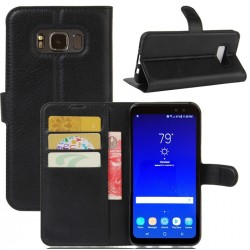 Protection Etui Portefeuille Cuir Noir Samsung Galaxy S8 Active