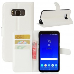 Protection Etui Portefeuille Cuir Blanc Samsung Galaxy S8 Active