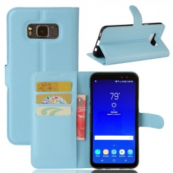Protection Etui Portefeuille Cuir Bleu Samsung Galaxy S8 Active