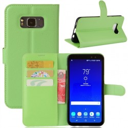 Protection Etui Portefeuille Cuir Vert Samsung Galaxy S8 Active