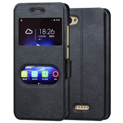Black S-view Flip Case For ZTE Blade A601
