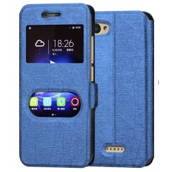 Blue S-view Flip Case For ZTE Blade A601