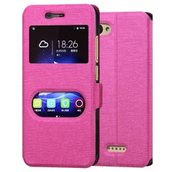 Pink S-view Flip Case For ZTE Blade A601