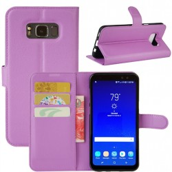 Protection Etui Portefeuille Cuir Violet Samsung Galaxy S8 Active