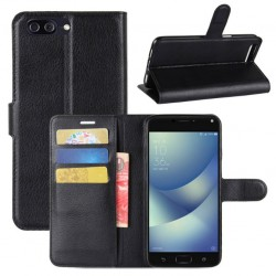 Asus Zenfone 4 Max Plus ZC554KL Black Wallet Case
