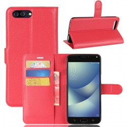 Asus Zenfone 4 Max Plus ZC554KL Red Wallet Case