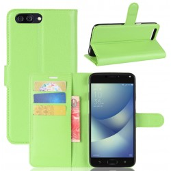 Asus Zenfone 4 Max Plus ZC554KL Green Wallet Case