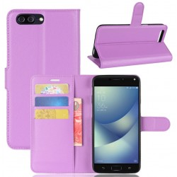Asus Zenfone 4 Max Plus ZC554KL Purple Wallet Case