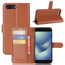 Asus Zenfone 4 Max Plus ZC554KL Brown Wallet Case