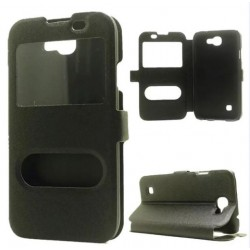Black S-view Flip Case For LG K3