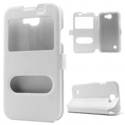 White S-view Flip Case For LG K3