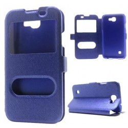 Blue S-view Flip Case For LG K3