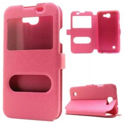 Pink S-view Flip Case For LG K3