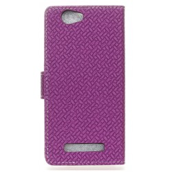 Protection Etui Portefeuille Cuir Violet Wileyfox Spark
