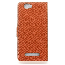 Protection Etui Portefeuille Cuir Marron Wileyfox Spark