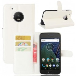 Motorola Moto G5 Plus White Wallet Case