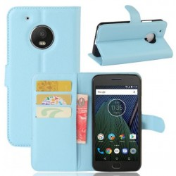 Motorola Moto G5 Plus Blue Wallet Case