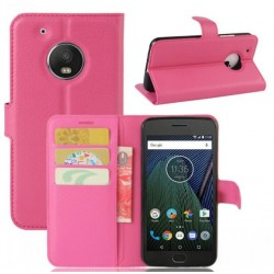 Motorola Moto G5 Plus Pink Wallet Case