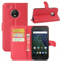 Motorola Moto G5 Plus Red Wallet Case