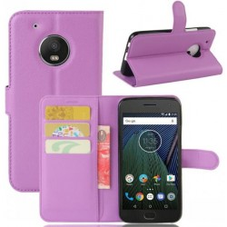 Motorola Moto G5 Plus Purple Wallet Case