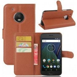 Motorola Moto G5 Plus Brown Wallet Case