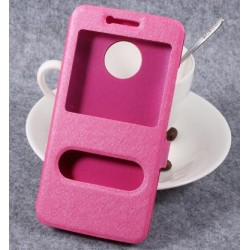 Pink S-view Flip Case For Motorola Moto G5 Plus