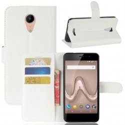Protection Etui Portefeuille Cuir Blanc Wiko Tommy 2