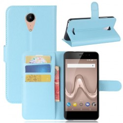 Protection Etui Portefeuille Cuir Bleu Wiko Tommy 2