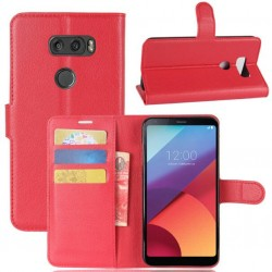 LG V30 Red Wallet Case
