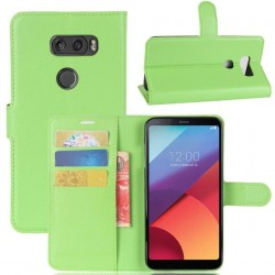 LG V30 Green Wallet Case