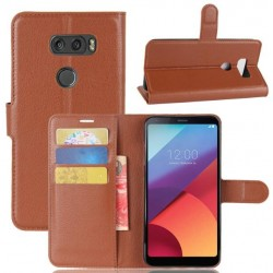 LG V30 Brown Wallet Case