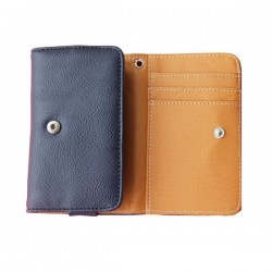 Alcatel A7 XL Blue Wallet Leather Case