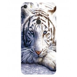 Coque Protection Tigre Blanc Pour Alcatel Idol 5