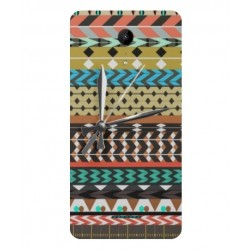 Coque Broderie Mexicaine Avec Horloge Pour Wiko Tommy 2