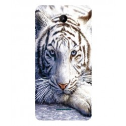 Coque Protection Tigre Blanc Pour Wiko Tommy 2 Plus