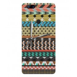 ZTE Nubia Z17 Lite Mexican Embroidery With Clock Cover