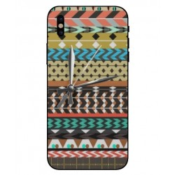 Carcasa Bordado Mexicana Con Reloj Para iPhone X