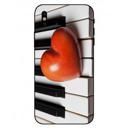 Coque I Love Piano pour iPhone X