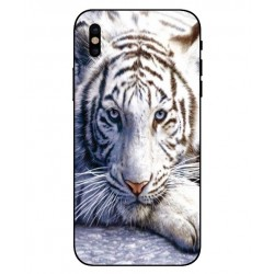 Coque Protection Tigre Blanc Pour iPhone X