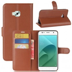 Asus Zenfone 4 Selfie ZD553KL Brown Wallet Case