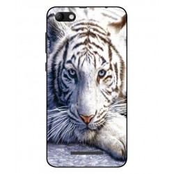 Coque Protection Tigre Blanc Pour Wiko Jerry Max