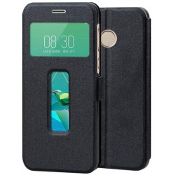 Black S-view Flip Case For ZTE Nubia Z11 Mini