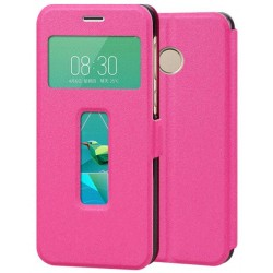Pink S-view Flip Case For ZTE Nubia Z11 Mini