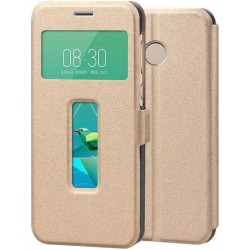 Gold S-view Flip Case For ZTE Nubia Z11 Mini