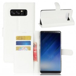 Protection Etui Portefeuille Cuir Blanc Samsung Galaxy Note 8
