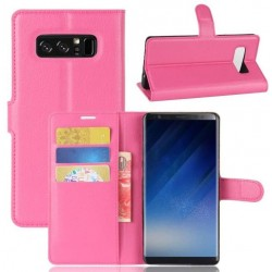 Protection Etui Portefeuille Cuir Rose Samsung Galaxy Note 8